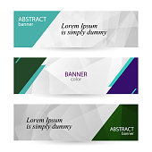 Set horizontal bright banners with empty place for text. Abstract graphic vector backgrounds. grey banner templates for your projects.