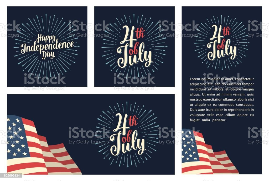 Set horizontal, vertical, square posters World environment day with firework vector art illustration
