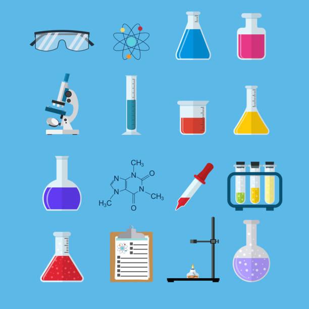 Set icon chemicals vector art illustration