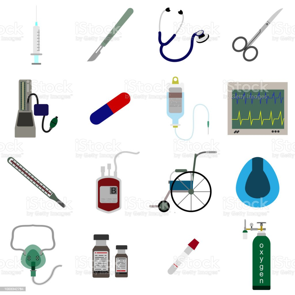 set icon of Medical equipment vector illustration vector art illustration