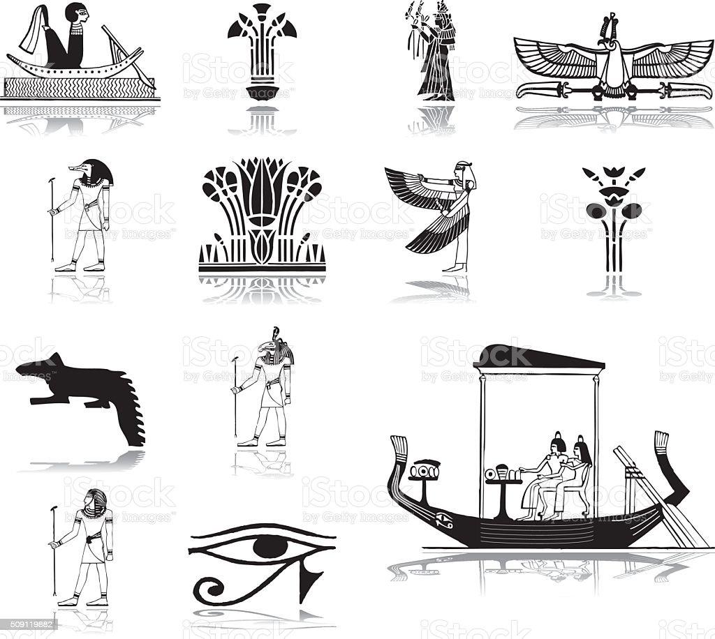 Set icons - 70. Egypt vector art illustration