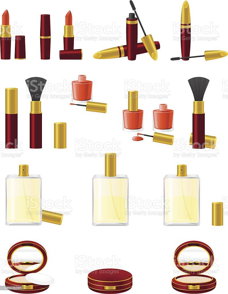 set icons cosmetics vector illustration royalty-free stock vector art