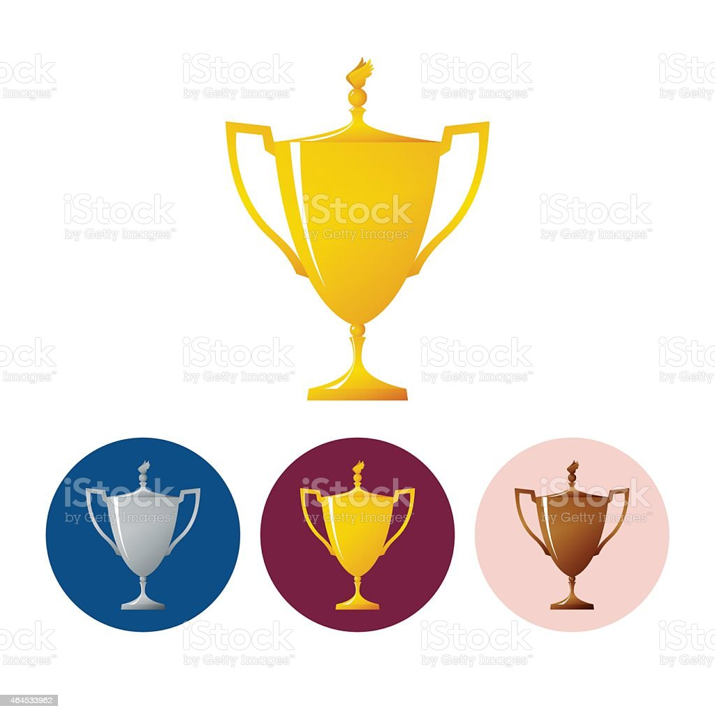 Set icons cups of winner,icon  trophy cup vector art illustration