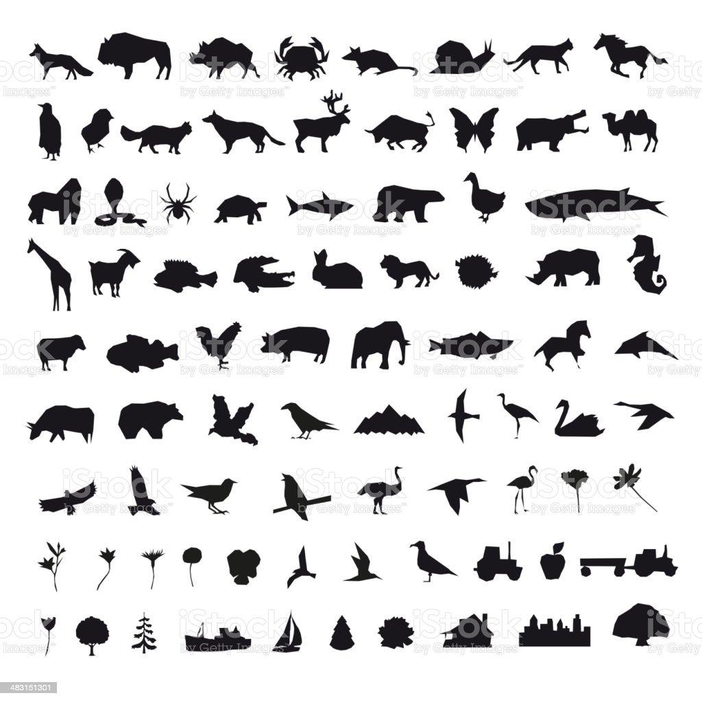 Set icons elements, vector illustration vector art illustration