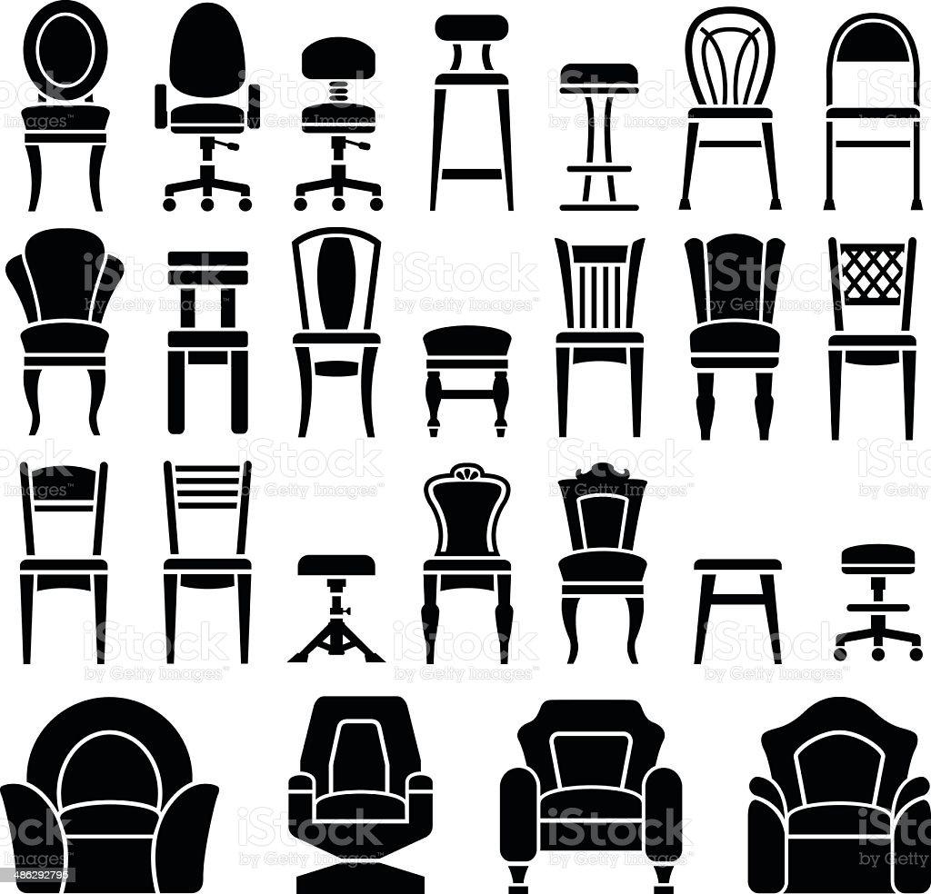 설정 아이콘 의자 일러스트 486292795  iStock