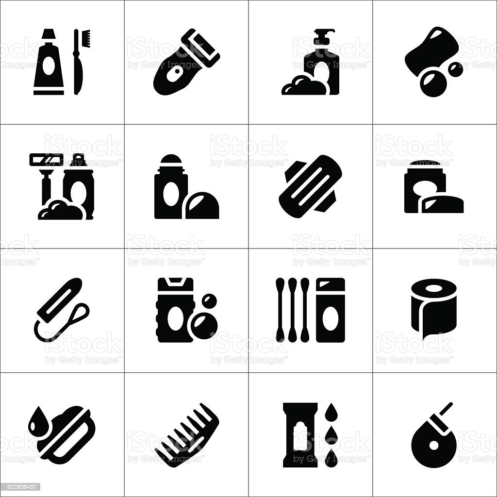 Set icons of hygiene vector art illustration
