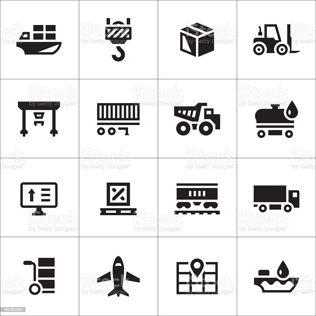 Ensemble d'icônes de logistic - Illustration vectorielle