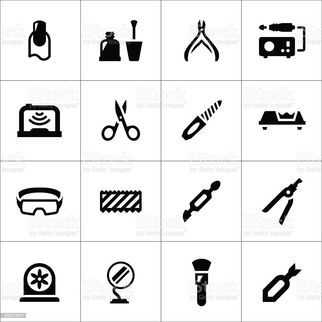 Conjunto de ícones de manicure - ilustração de arte em vetor
