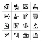 Set icons of modern window