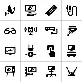 Set icons of television