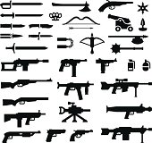 Set icons of weapons