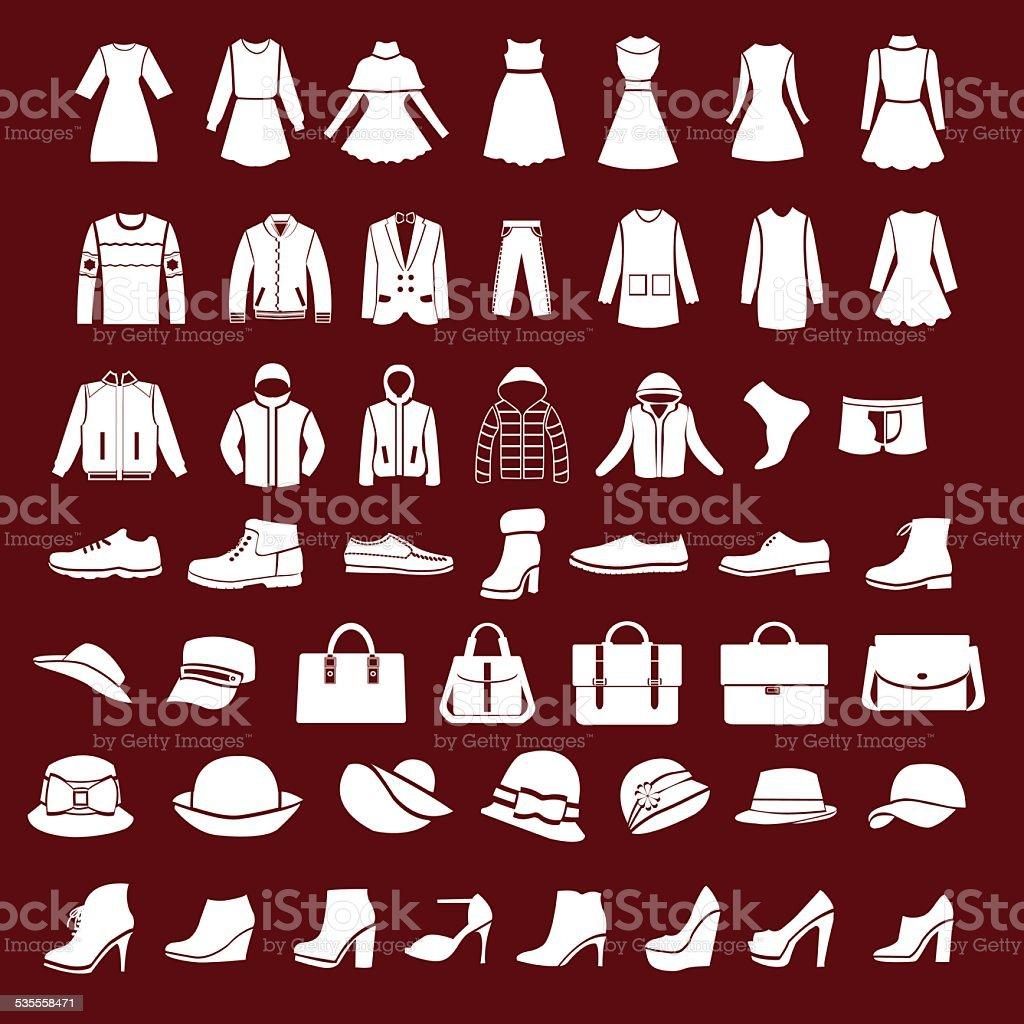 cbca6aec2f Ilustración de Conjunto De Iconos De Las Mujeres Y De Los Hombres De ...