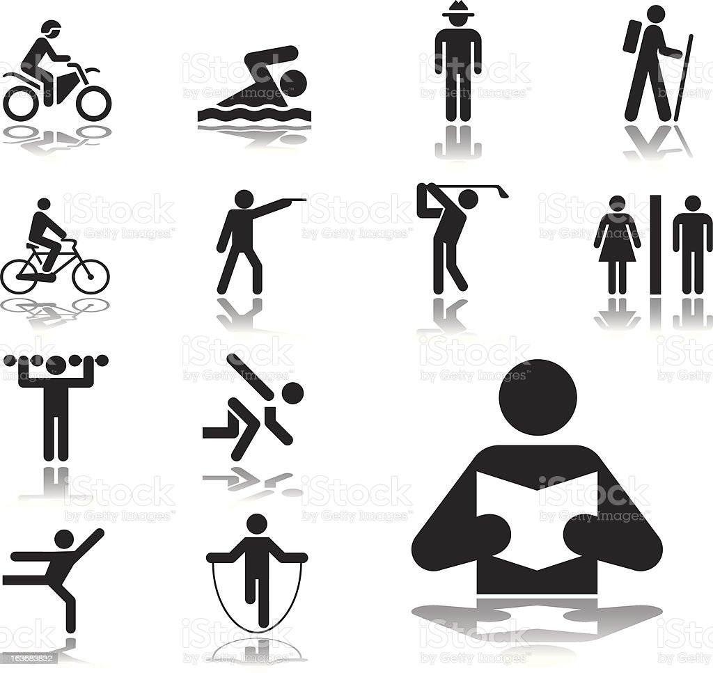 Set icons: Pictographs of people royalty-free set icons pictographs of people stock vector art & more images of adult
