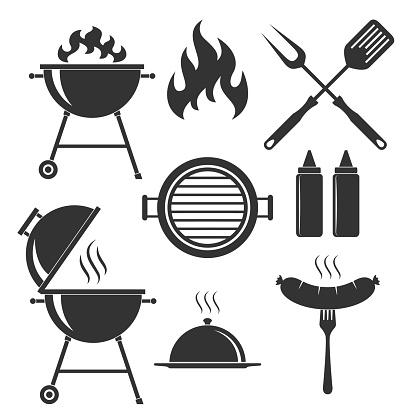 BBQ set icons