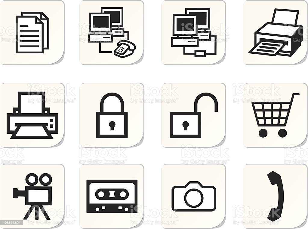 Set icons royalty-free set icons stock vector art & more images of basket