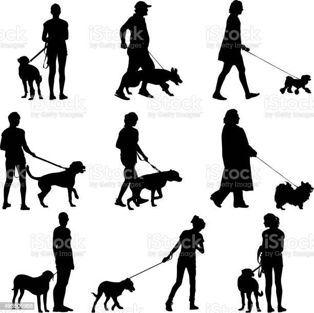 Set ilhouette of people and dog vector illustration vector id493505988?b=1&k=6&m=493505988&s=612x612&h=e5bdsffzesg3uy0bmkgn3ae8psfgt7bvbk wjgbfiii=