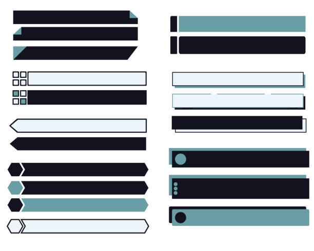Set illustration of tags and labels vector art illustration