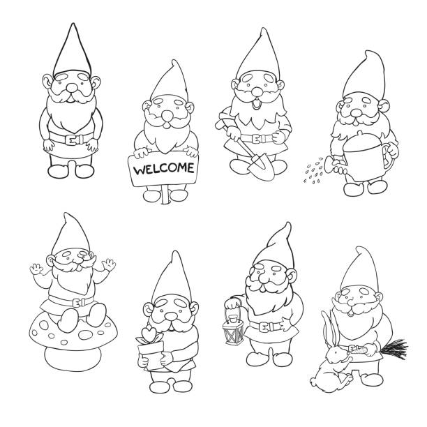 76 Black Garden Gnome Stock Photos Pictures Royalty Free Images Istock