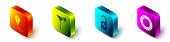 istock Set Isometric Kite, Martini glass, Please do not disturb and Lifebuoy icon. Vector 1226537906