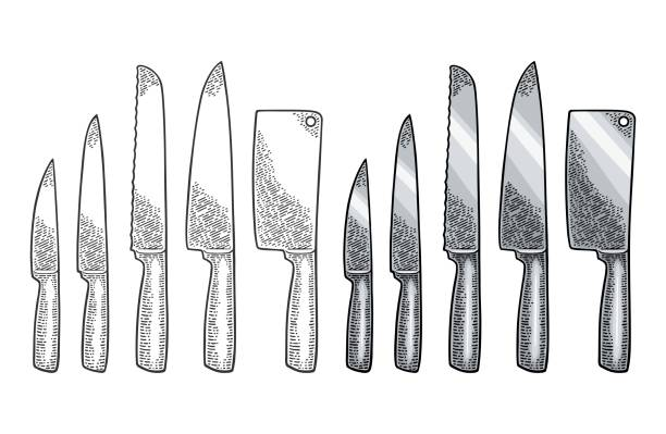 Best Meat Cleaver Illustrations, Royalty-Free Vector