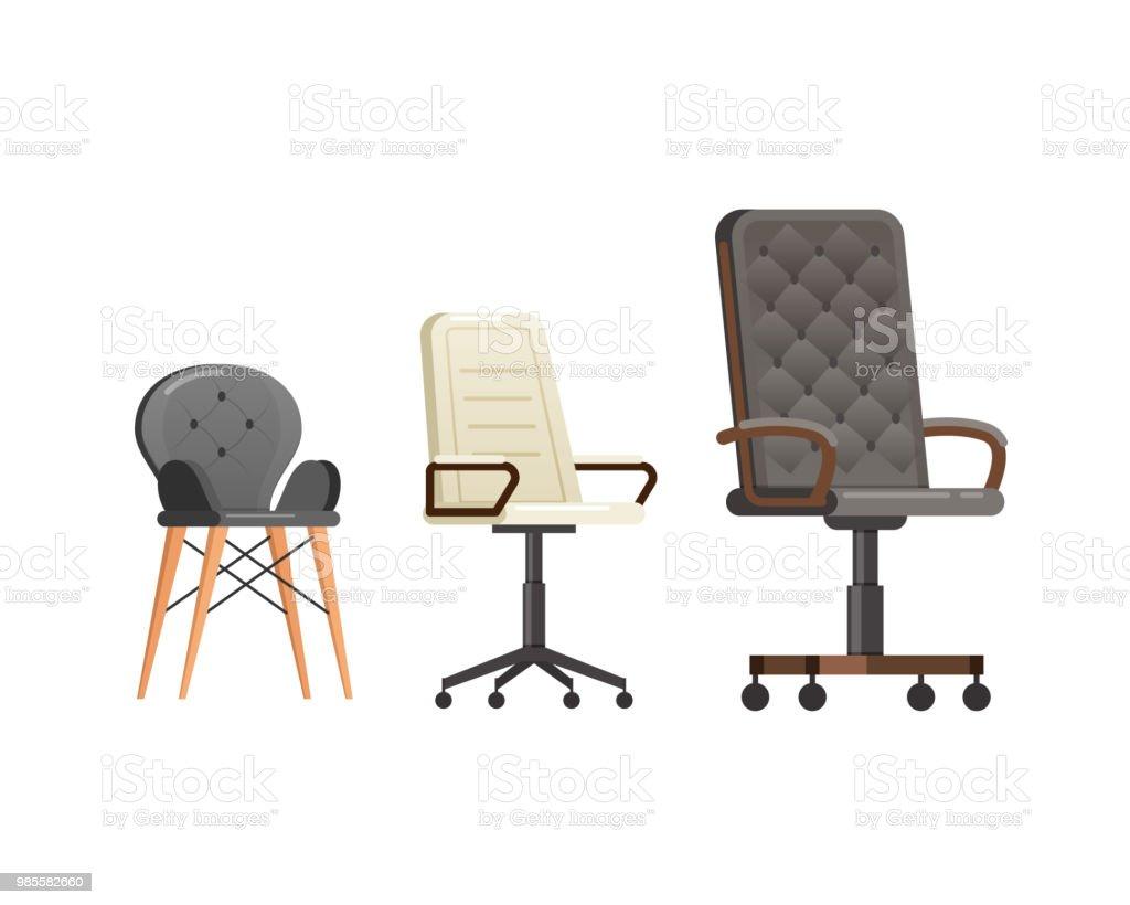 Définissez des fauteuils en cuir chaises pour la maison et le