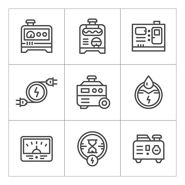 Stromgenerator Vektorgrafiken und Illustrationen - iStock