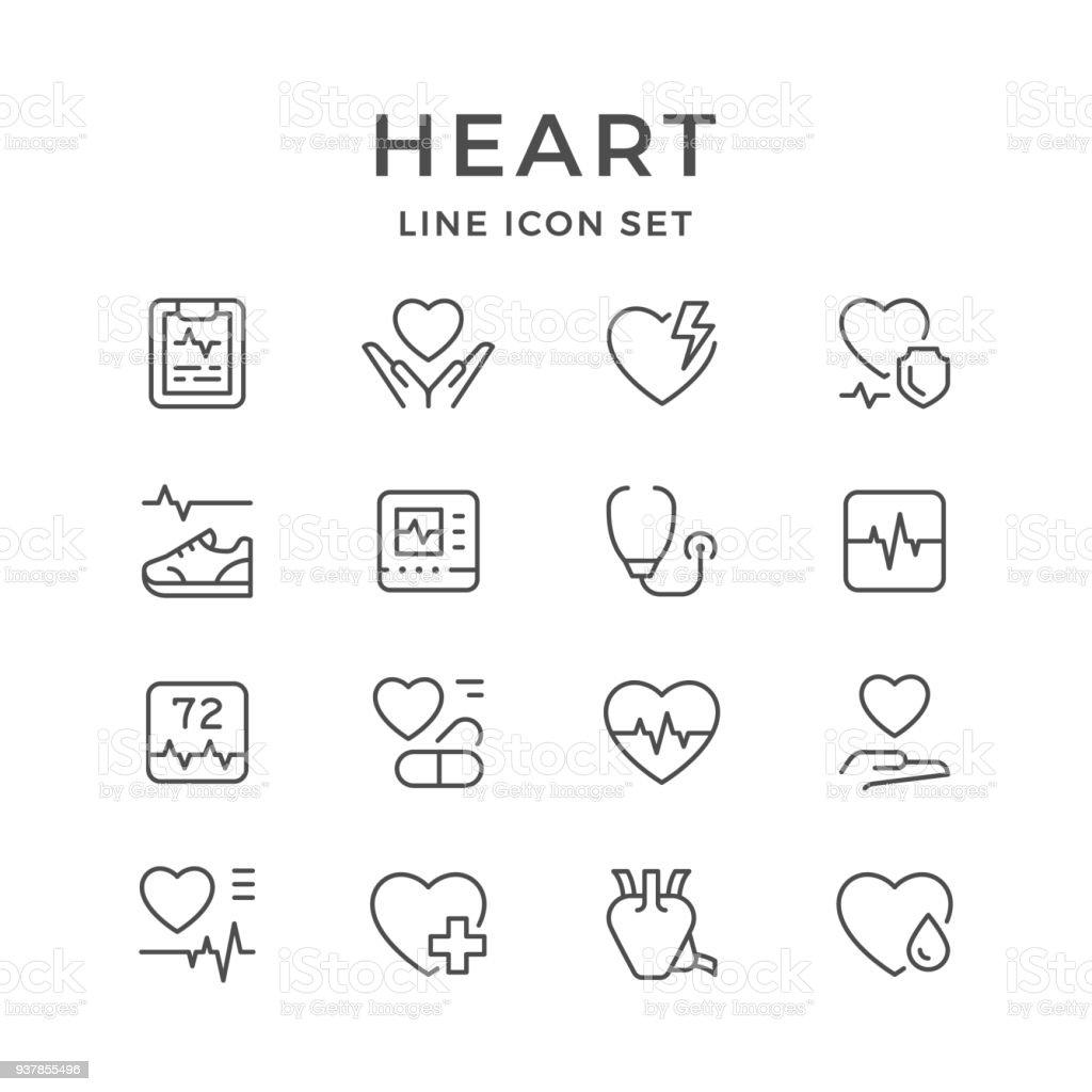 Setzleitung Symbole Des Herzens Stock Vektor Art und mehr Bilder von ...