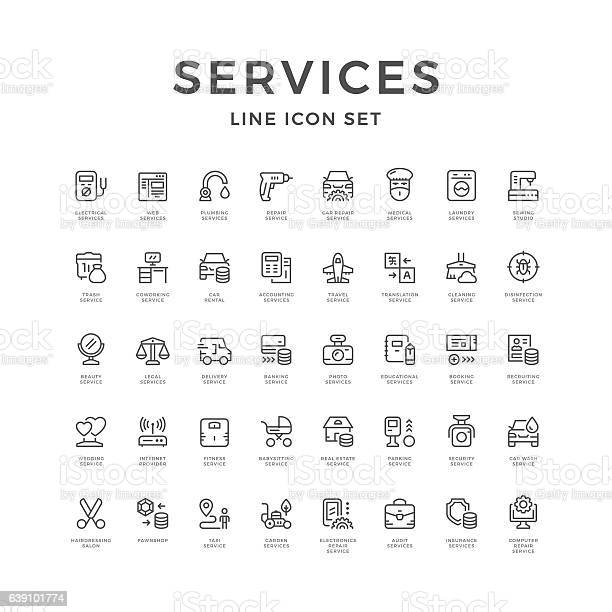 Set line icons of service vector id639101774?b=1&k=6&m=639101774&s=612x612&h=ukm3cayhqx5enhbhxc4d0o57ou 6oktixly4mdotfd8=