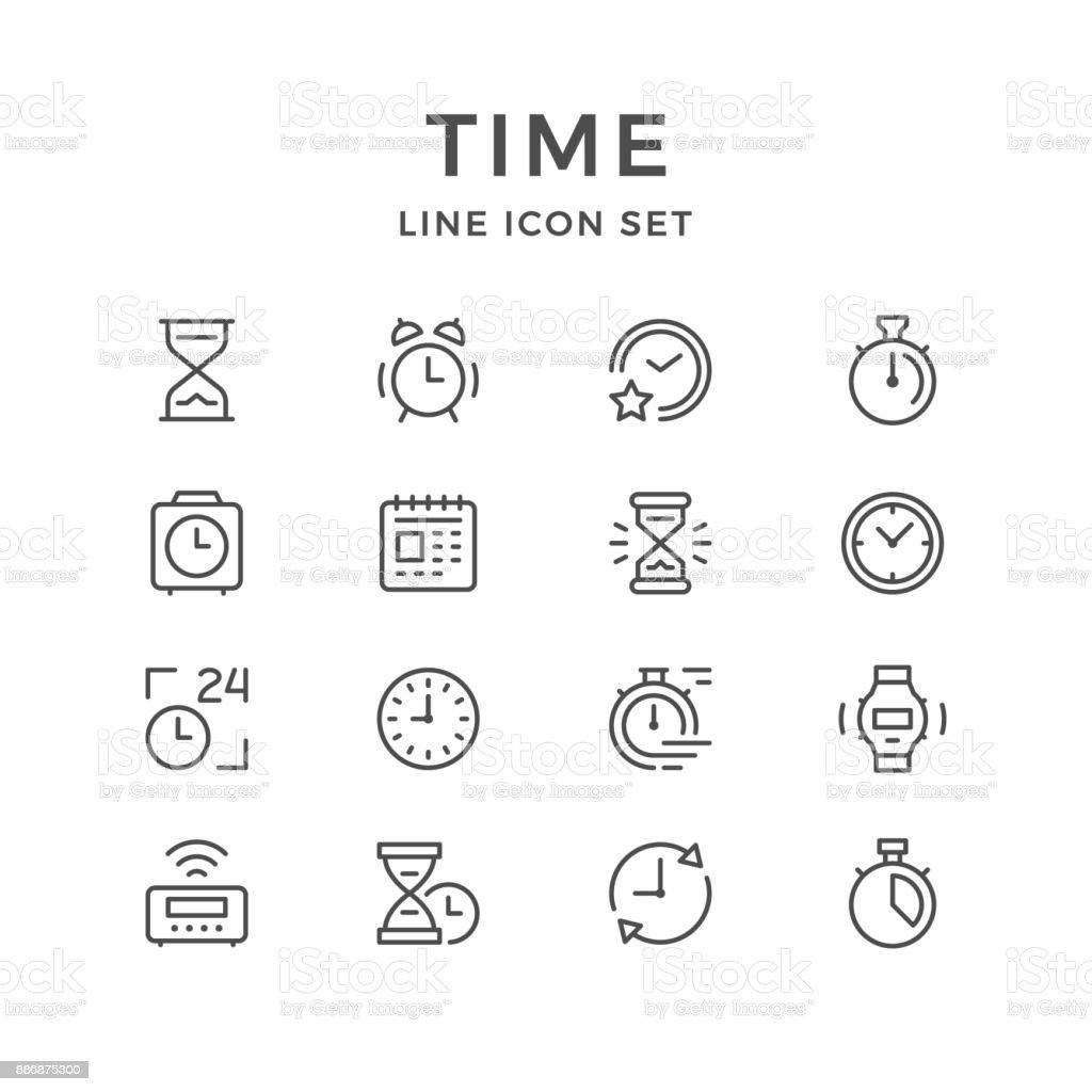 Iconos de sistema de línea de tiempo ilustración de iconos de sistema de línea de tiempo y más vectores libres de derechos de 24 hrs - frase corta libre de derechos