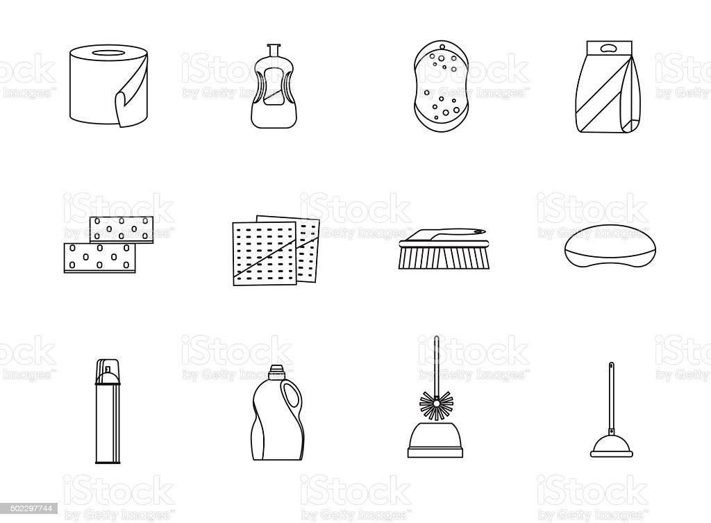 Set line icons vector art illustration