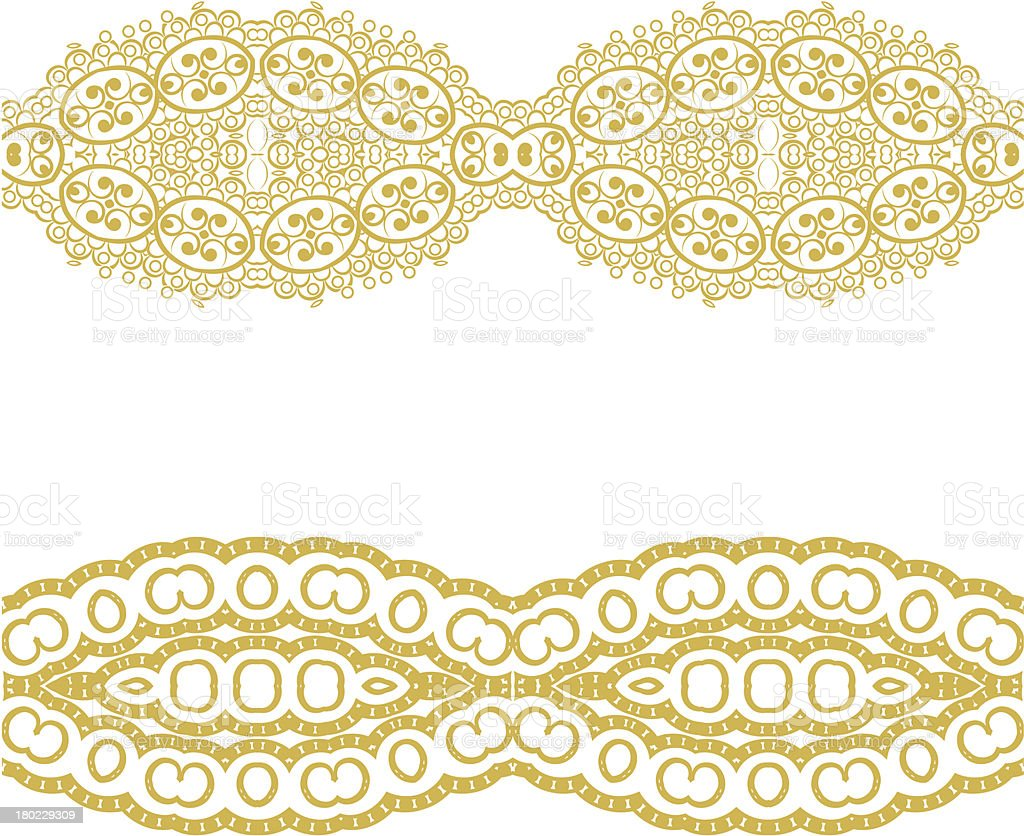 Set linear floral ornament. royalty-free stock vector art