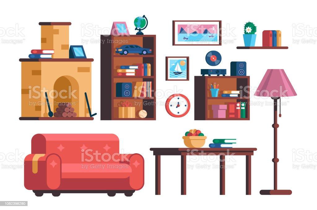 Deutschland, Abstrakt, Accessoires, Behaglich, Blumenvase. Set Wohnzimmer  Interieur Möbelkollektion ...