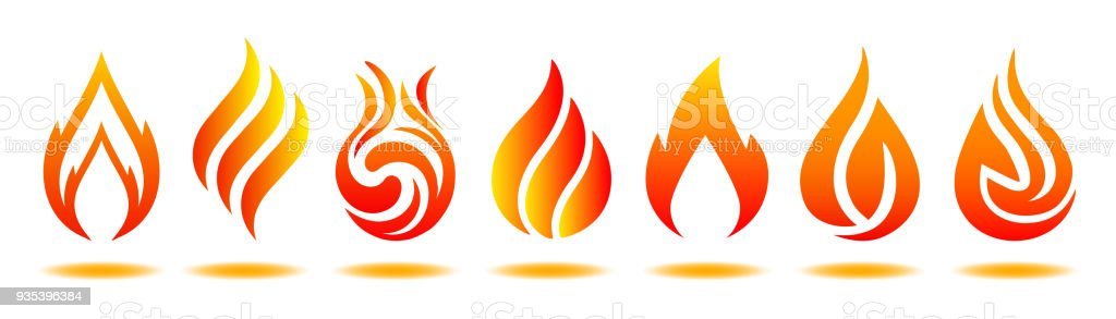 Logo incendié. Illustration vectorielle pour design - stock - clipart vectoriel de Abstrait libre de droits