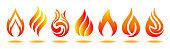 Set logo fire. Vector illustration for design - for stock