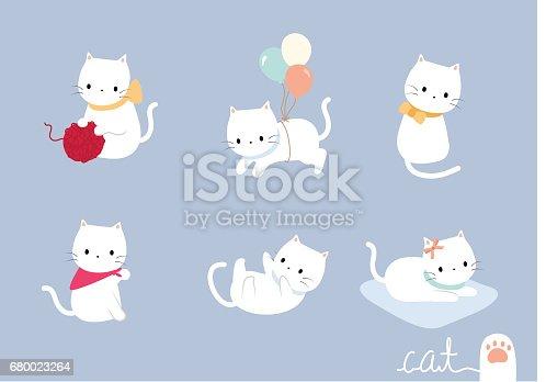 istock set lovely cat 680023264