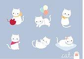 set lovely cat