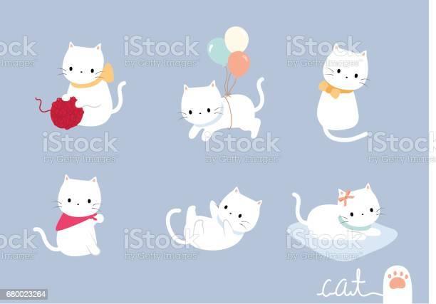 Set lovely cat vector id680023264?b=1&k=6&m=680023264&s=612x612&h=fxzlmo y4tcig6gvmwrttruj7qrpef6cl8k88nal g0=