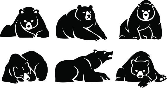 Set lying bears