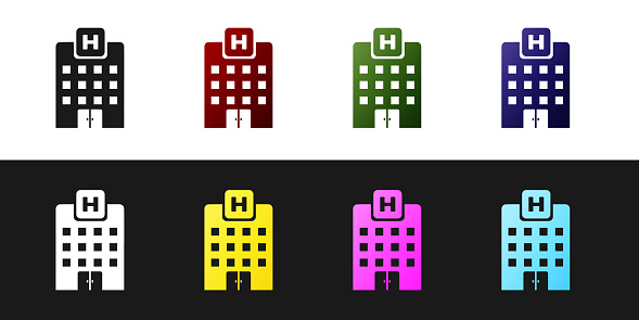 Medical Center Building Icon Flat Style, Building Icons, Medical Icons,  Style Icons PNG and Vector with Transparent Background for Free Download