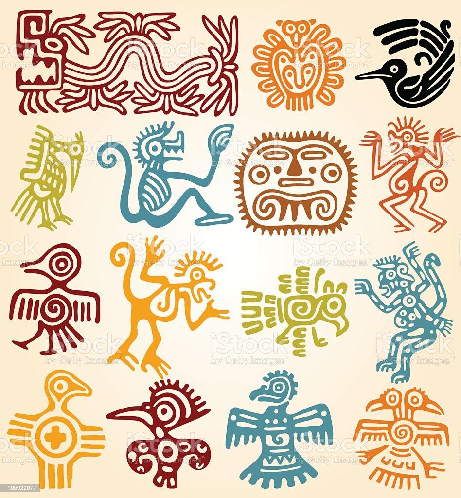 Royalty free maya clip art vector images illustrations istock set mexican symbols vector art illustration buycottarizona