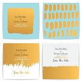 Set modern wedding card