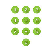 Set of 0-9 number icons. Vector illustration eps 10