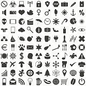 set of 100 general various icons for your use eps10