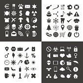 set of 100 various general icons for your use eps10