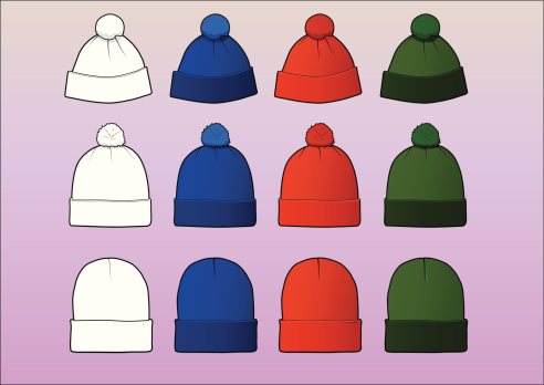 Set of 12 assorted beanies