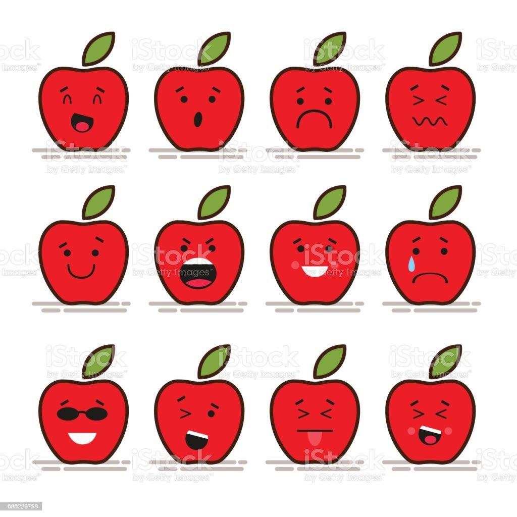 Plats Avec émoticônes Modernes 12 Ensemble Feuille Pomme De Rouge xpwHqO