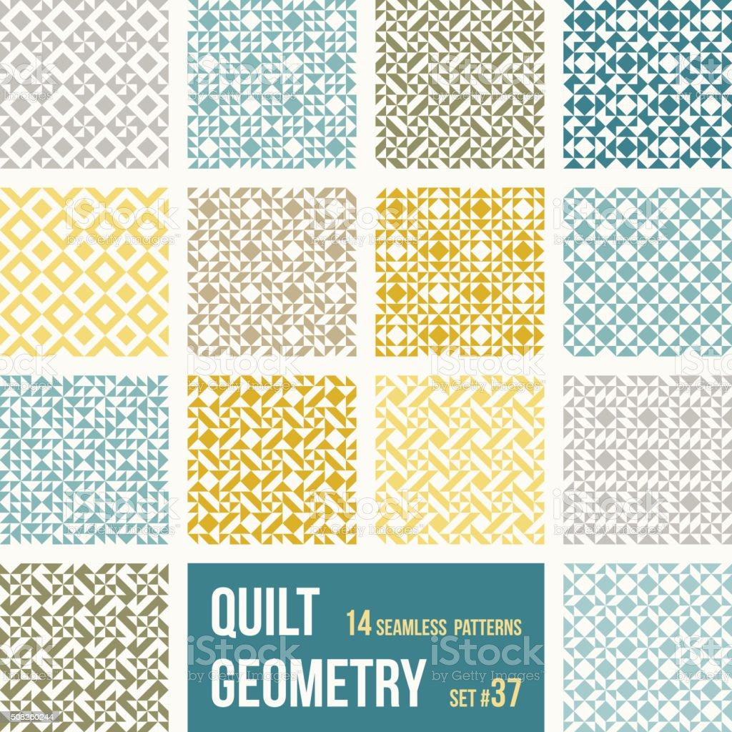 Ilustración de Conjunto De Baldosas Geométricas 14 Con Patrones De ...