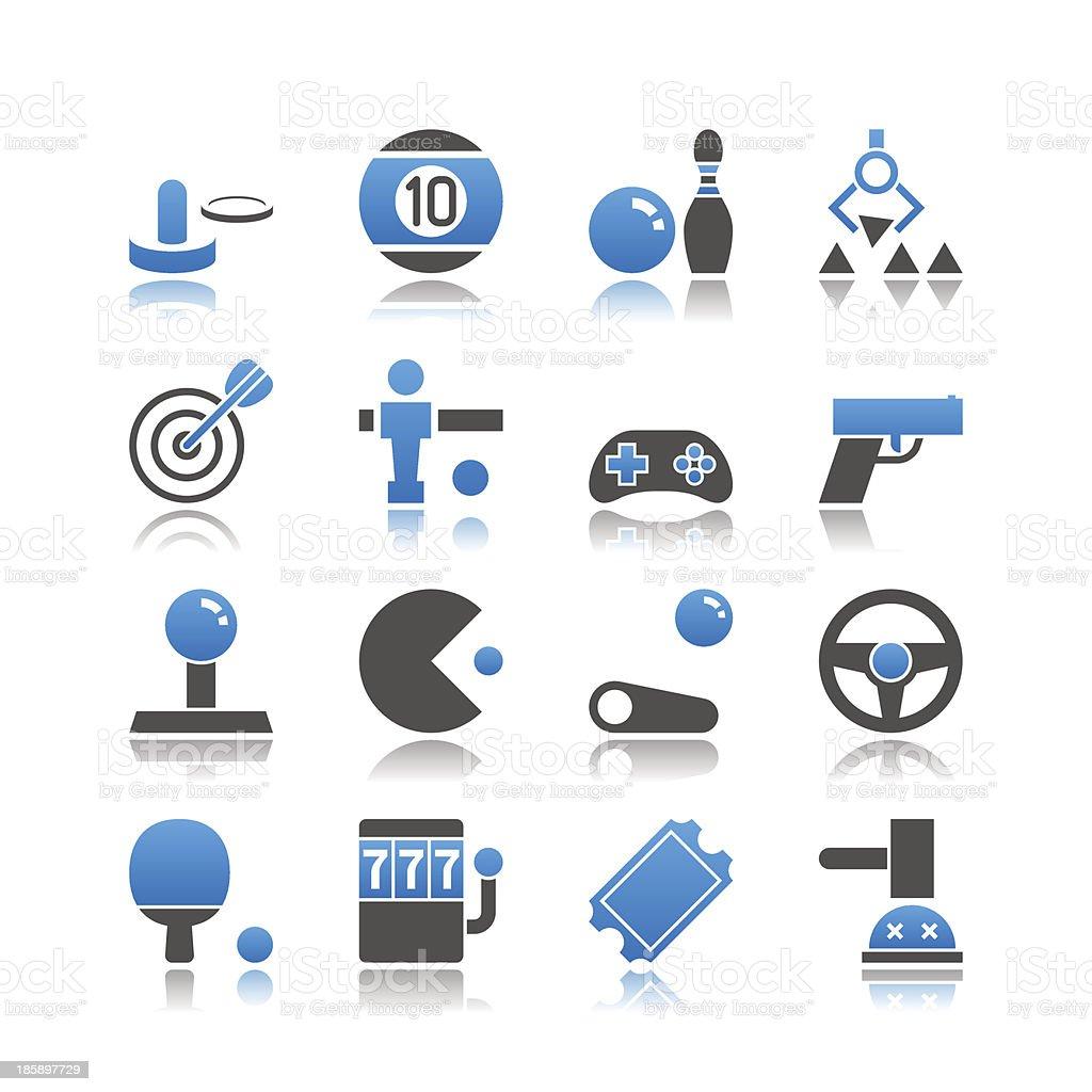 Jeux ensemble de 16 icônes de vecteur et jeu de simple - Illustration vectorielle