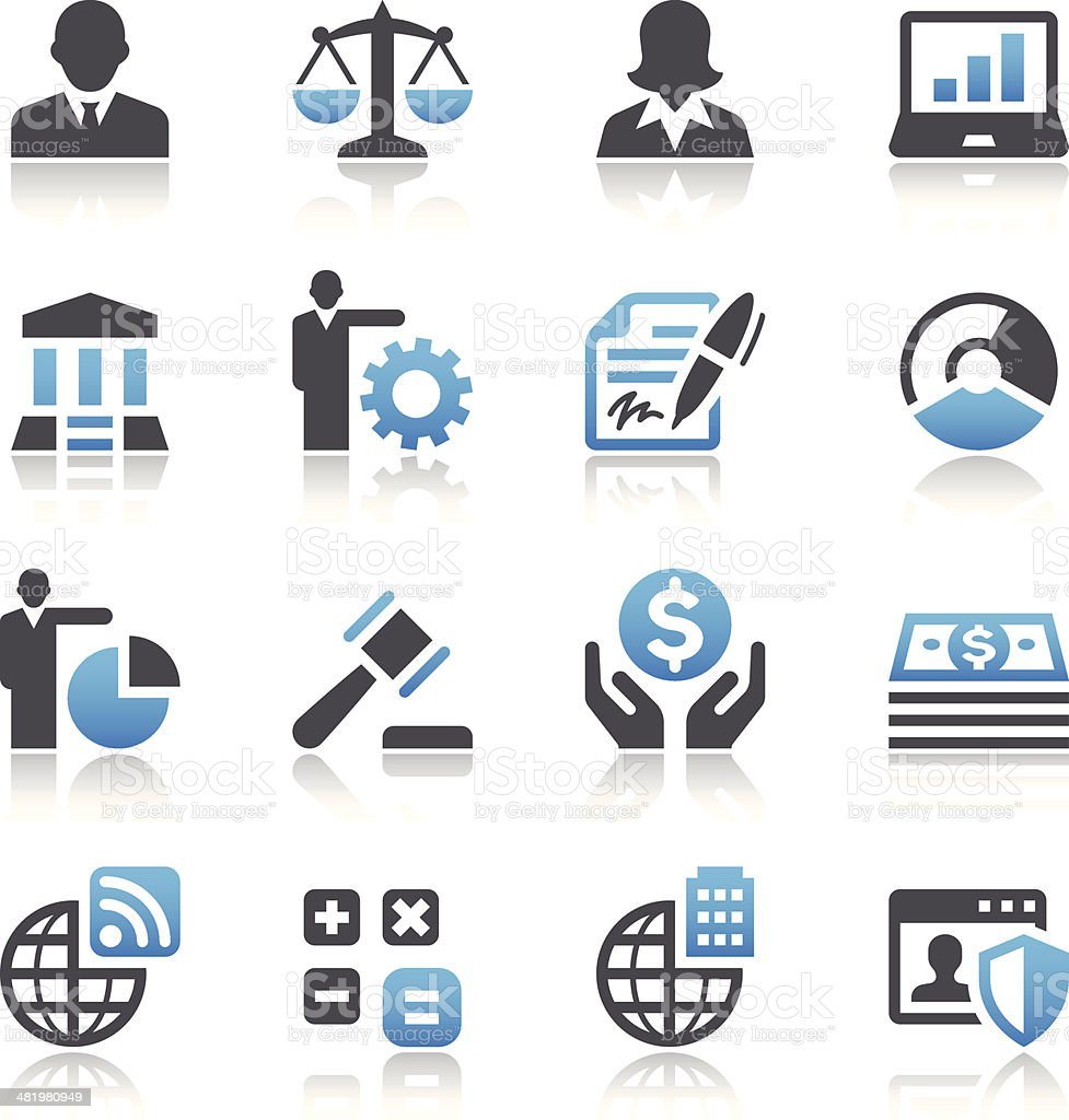 Set of 16 business vector images vector art illustration