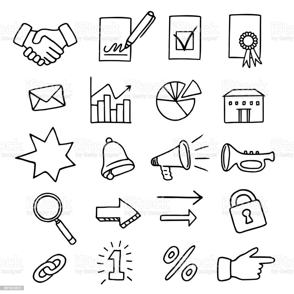 Set of 20 business related icons royalty-free set of 20 business related icons stock illustration - download image now